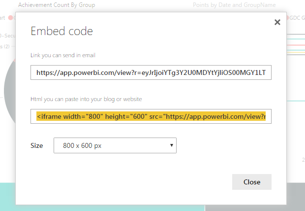 How to embed the powerBi report in html iFrame? | Mad Programmer